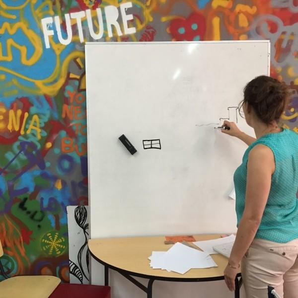 A Teresa treina os desenhos, workshop 1